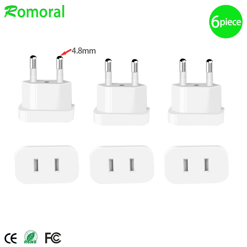 travel eu plug converter adapter 250v ac travel charger wall power plug socket with home adapter 【Upgraded】US To EU Plug CN To Europe Travel Wall AC Power Charger Outlet Adapter Converter 2 Round Socket Input Pin