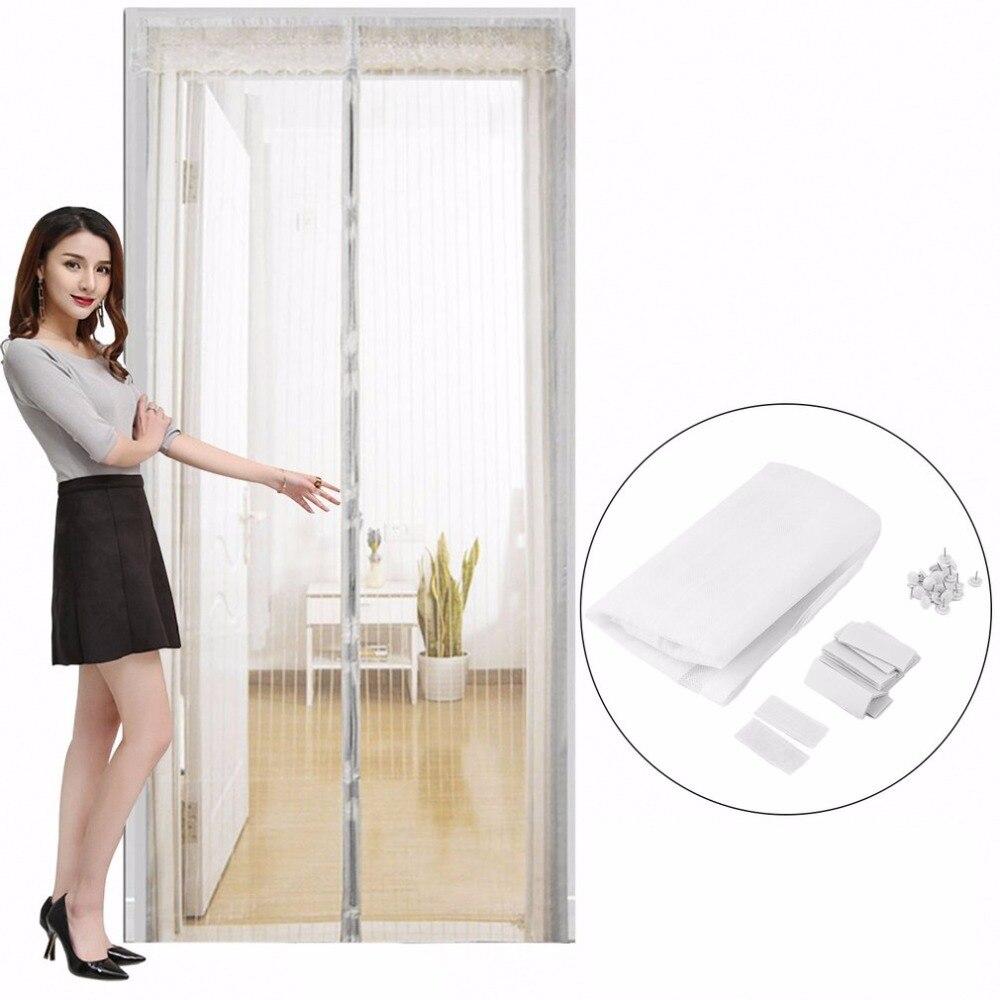 Mosquitera con cierre automático Para puerta, malla magnética Para cortinas Para bichos,...