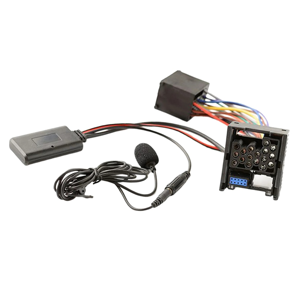 10-контактный автомобильный радиоприемник Bluetooth микрофон AUX IN 3,5 мм аудиокабель адаптер для BMW E46 3 серии 2002-2006 бизнес CD
