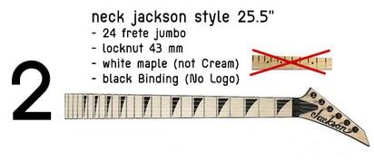 customer order guitar neck 24fret 25.5inch 43mm nut