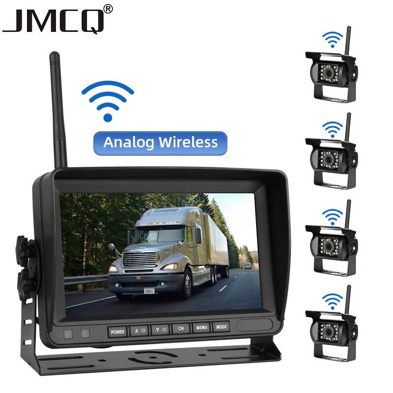 JMCQ Wireless 7 Inch Car Monitor Screen Reverse Vehicle Monitors Reversing Camera Screen Car Monitor for Vans Truck RV