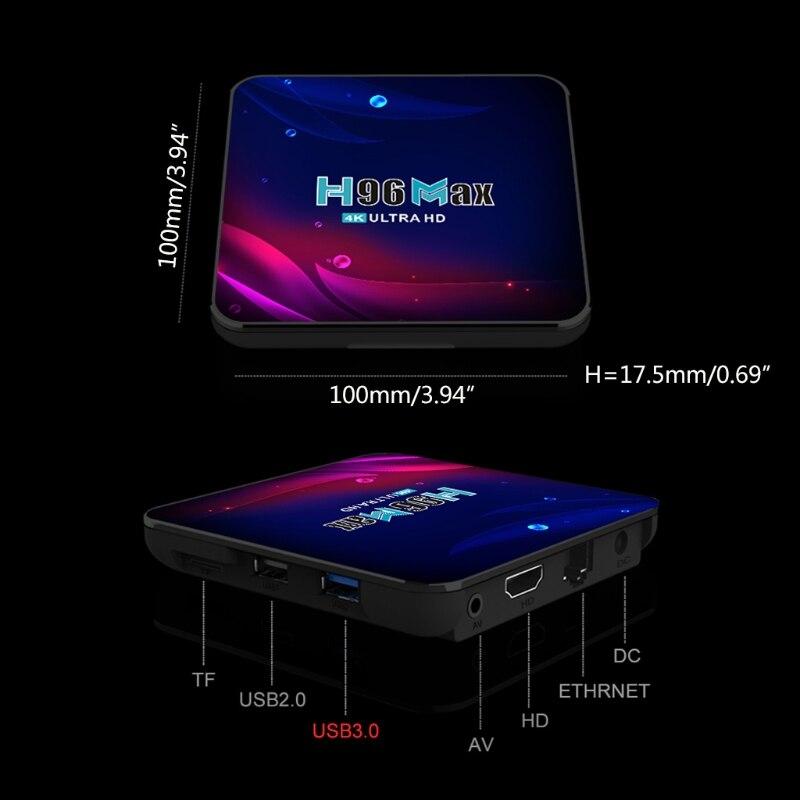 مربع التلفزيون الذكية H96 ماكس V11 RK3318 رباعية النواة ل-تي في بوكس أندرويد 4K 16/32/64GB مشغل الوسائط