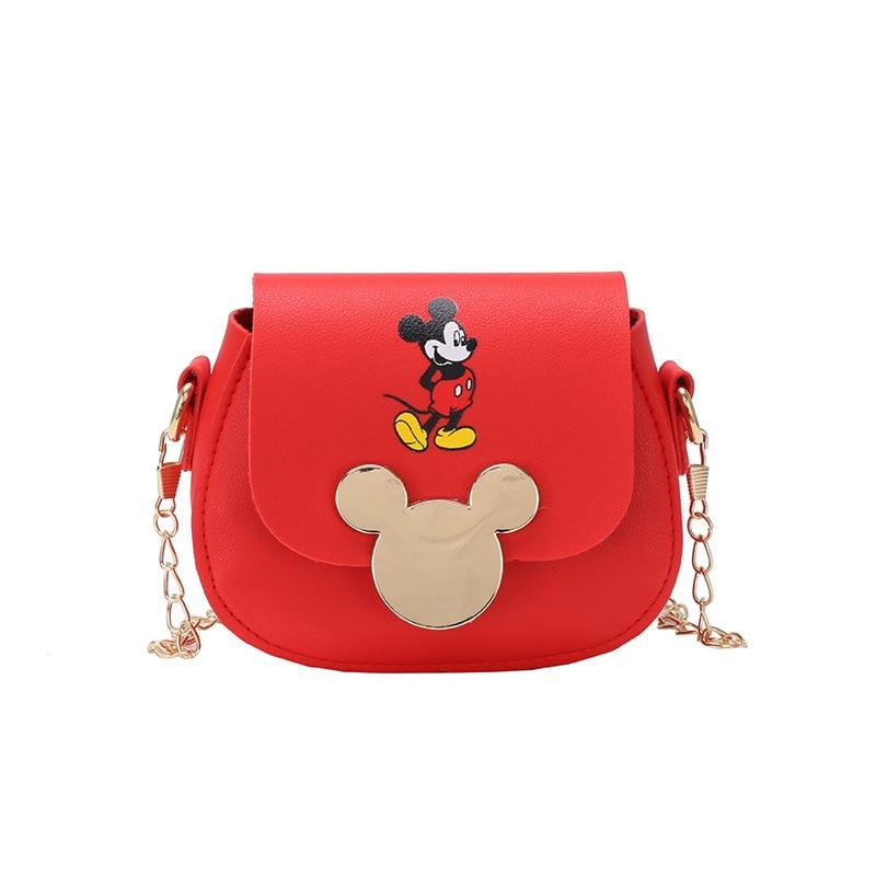 2020 Mickey Handbag Kids Shoulder Crossbody Bag Waterproof Chain Bag  Pu Leather Cute Messenger Bag Fahion Children Little Tote