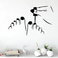 removable vinyl nail salon wall stickers for girls room decor pegatinas de pared adesivo livingroom decals decoration hq899