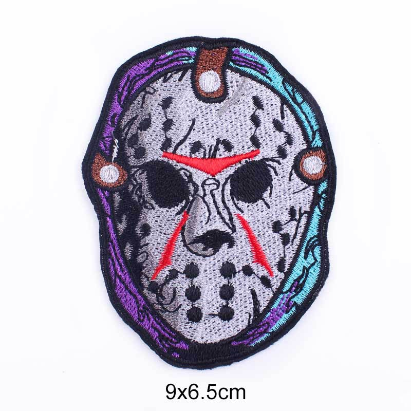 Applique On Clothes Stickers For T-Shirt Punk Skull New Arrived Movie Stripes Jeans Jacket Cowboy DIY Garment Badge On The Back
