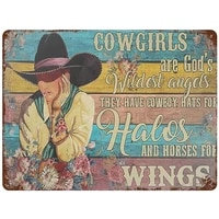 metal iron sign cowgirls are wildest angels tin sign poster retro wall decoration garage bar club cafe farmhouse garden