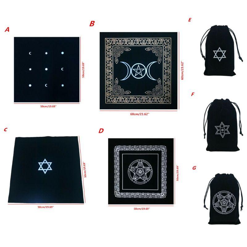 Altar tarô pano pentagrama tarô jogo de tabuleiro toalha de mesa jogo de cartas de jogo esteira de veludo tarô saco de armazenamento de alta qualidade e nova marca