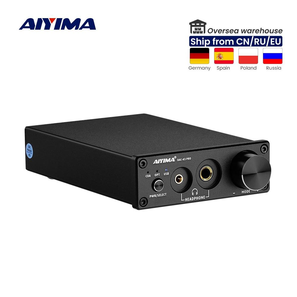 AIYIMA-جهاز فك تشفير صوت ستيريو صغير ، DAC ، مضخم سماعة رأس USB ، محول رقمي إلى تناظري ، محوري/مضخم بصري