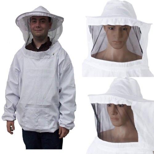 Chaqueta de apicultura protectora de algodón de alta calidad, velo, equipo de Bata, traje de manga de sombrero