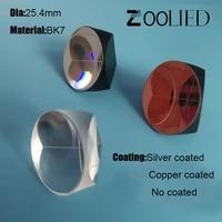 corner prism silver copper coated beam retroreflector 25 4mm trihedral laser level cube prism 5 arc secs return beam