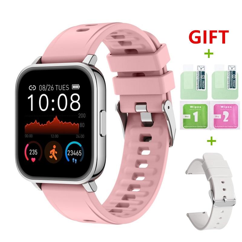 2021 جديد P25 ساعة ذكية اللياقة البدنية عداد الخطى الصحة معدل ضربات القلب النوم المقتفي IP67 مقاوم للماء الرياضة Watche Smartwatch للرجال والنساء