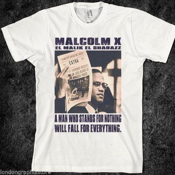 Camiseta de Malcom, Historia Negra, África, Pantera Negra, Mandela, MLK, Camiseta de algodón con estampado de calidad Ferguson, nuevo estilo veraniego