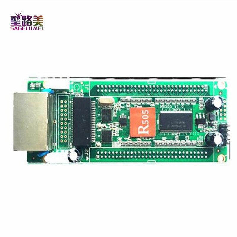 HD-R505 controlador rgb a todo color Tarjeta receptora software de controlador de píxeles led aplicable a pequeñas pantallas completas de led para interiores