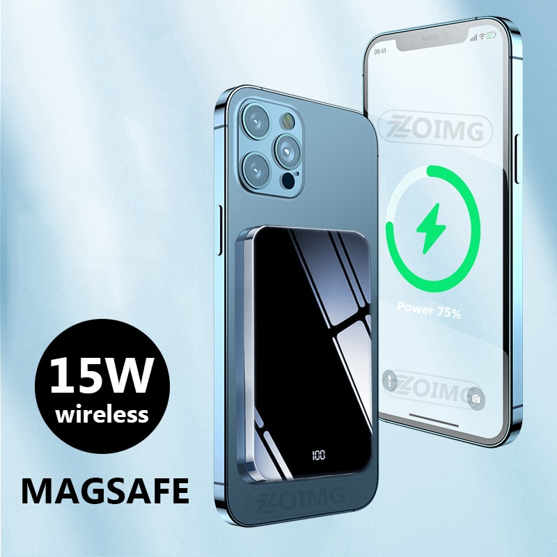 Power Bank 10000mAh Magnetic Wireless Mobile Phone External battery For magsafe 15W powerbank Fast Charger For iphone 12 xiaomi