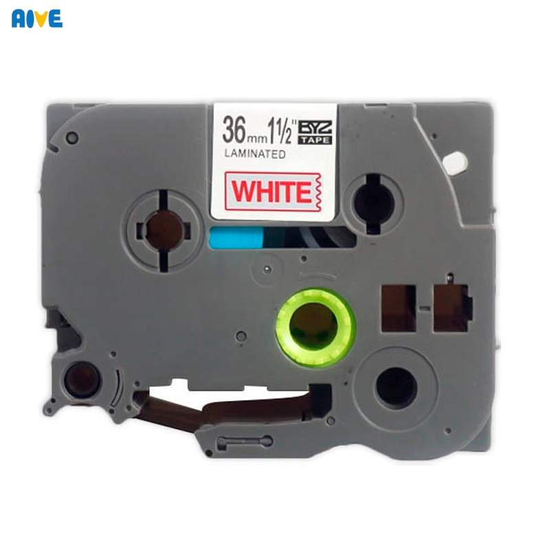 Aive laminated TZe-261 Label Tape Compatible Brother P-touch 36mm Printers PT-9500PC PT-9600 P900 PT550  tze461 TZe661 White red
