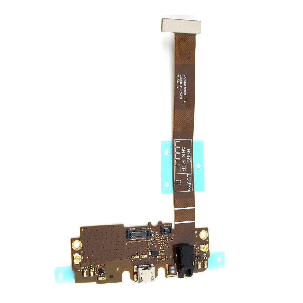 Peça de reparo para lg g flex 2 h950 h955 h959 ls996 carregamento carregamento conector porto fone ouvido jack microfone cabo flexível