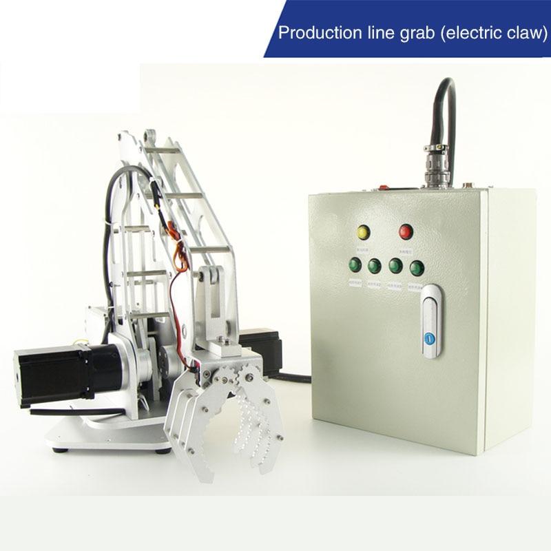 روبوت كهربائي صناعي 3 محاور 57, خط إنتاج المصنع ذراع روبوتية التقاط محرك بعجلات