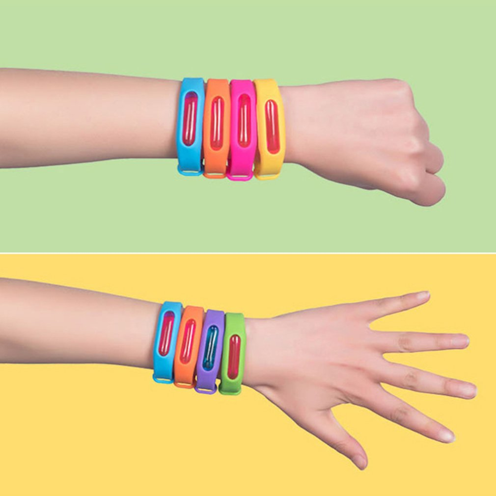 1 Pcs Mosquito Repellent Band Bracelet Anti Mosquito Insect Repellent for Kids Silicone plant essential oil repellent bracelet