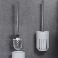 portable plastic toilet brush creative quick drying useful wall mounted toilet brush long handle brosse wc cleaning tools dk50tb