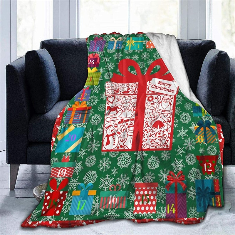 هدايا عيد الميلاد لينة أفخم هدية الفانيلا صوف ليف دقيق المفرش شيربا 3d-print بطانية الأريكة غرفة نوم ديكور