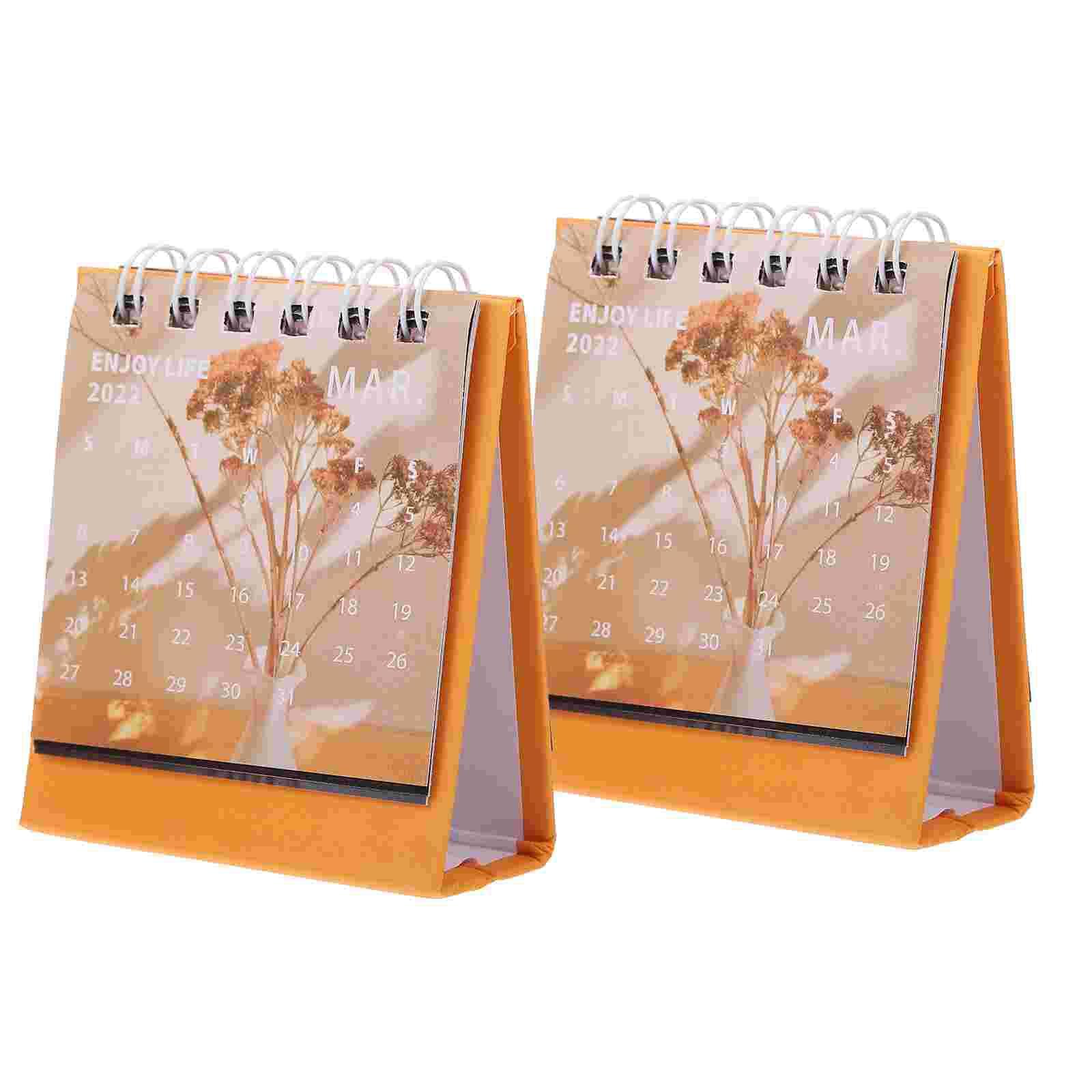 Простые мини-календари, декоративные мини-календари, школьные мини-календари, 2 шт.
