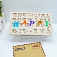 1pc english alphabet silicone cake molds baby birthday fondant cake decorating tools chocolate candy clay moulds ftm443