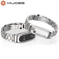 Ремешок для Mi Band 2, металлический браслет для смарт-часов Xiaomi Mi Band 2