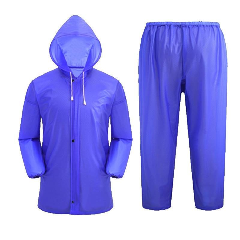 Traje impermeable para adultos, Poncho impermeable al aire libre, pantalones de lluvia, traje de motocicleta, Gabardina dividida, abrigos de Camping, AC50RC