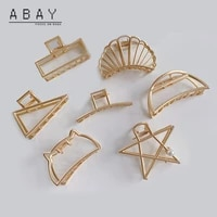 fashion women five pointed star hair claw new hot sale gold versatile temperament retro delicate cool wind hairpin girl trend