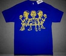 New Fnly94 bobblehead shirt Steph Curry Klay Thompson draymond green cartoon
