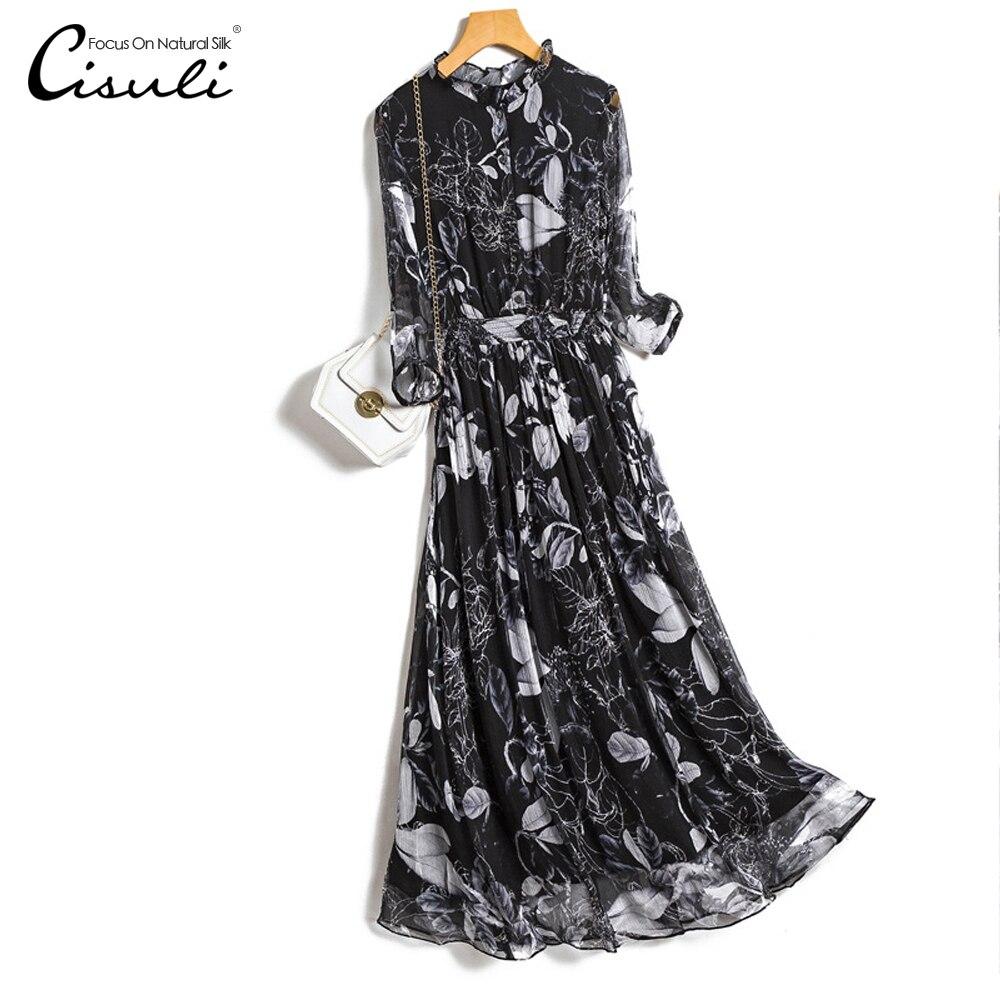 CISULI 100% الحرير الشيفون فستان السيدات فستان مناسبات