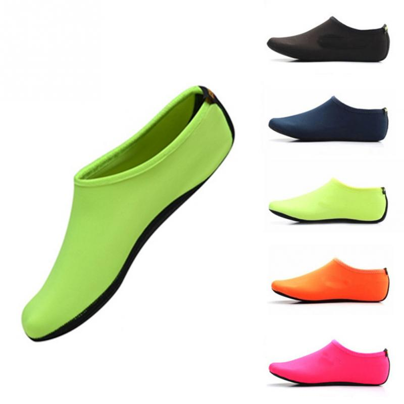 Durable Sole Barefoot Water Skin Shoes Men Women Aqua Shoes Anti Slip Beach Shoes Swimming Yoga Wate