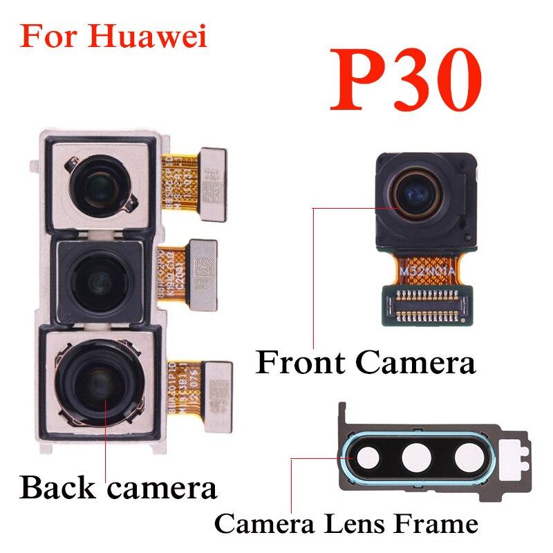 Cámara frontal Selfie cámara para Huawei P30 parte trasera grande cámara principal módulo Flex cable reparación piezas