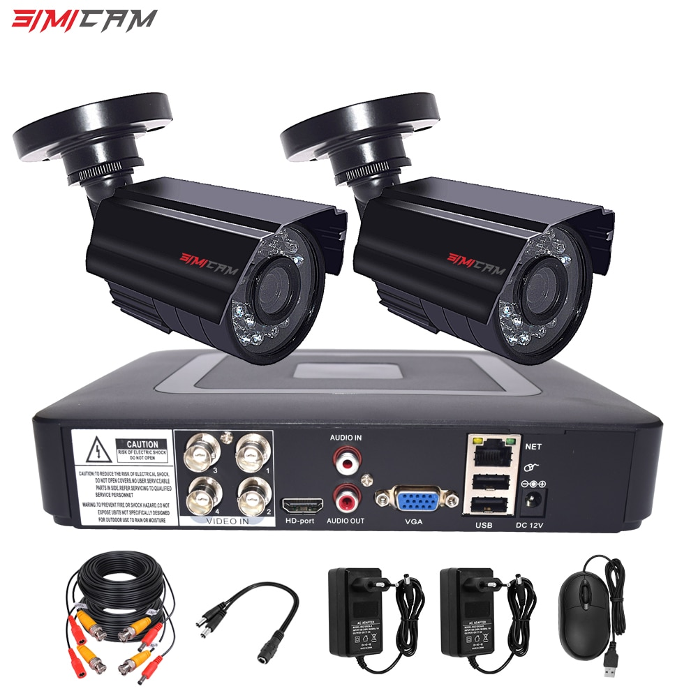video monitoring camera system room set surveillance video recorder 5in1 dvr 2mp 1080p hd security camera video surveillance kit CCTV Camera Security System Kit 4CH DVR 1080p 2Pcs AHD Analog Camera Surveillance Waterproof Night Vision Video Surveillance Set