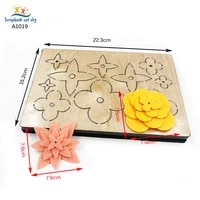combined flower die cutting wooden mold scrapbook is suitable for most machines