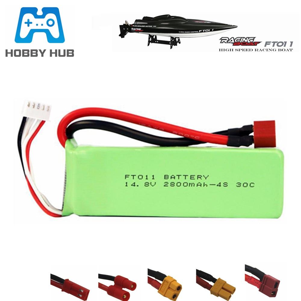 Hobby Hub, batería de 14,8 V 2800mah, batería RC 4s Lipo, batería 14,8 V 2800mah 30C para FT010 FT011, barco RC, helicóptero, aviones, coche 803496