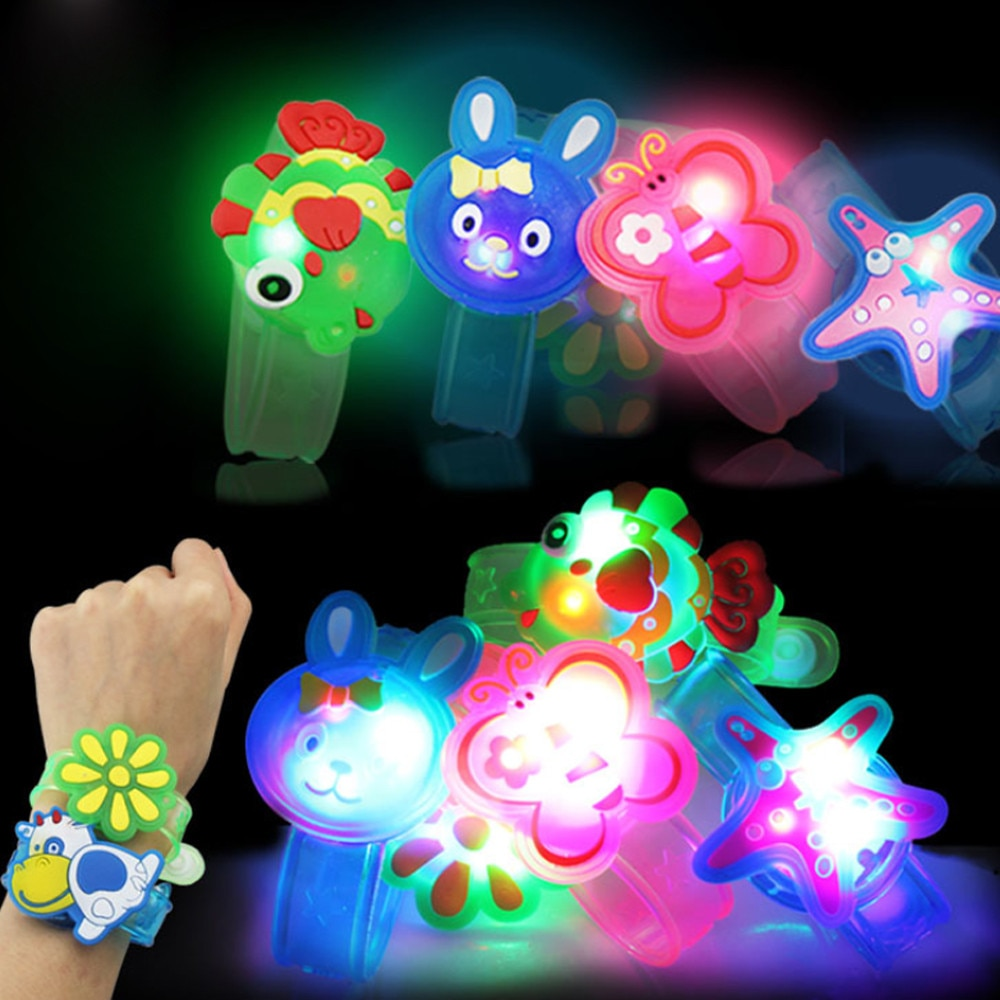 Cartoons Animal Children Watch Strap With Luminous Led Lights Creative Bracelet Watch Flash Wrist Lu