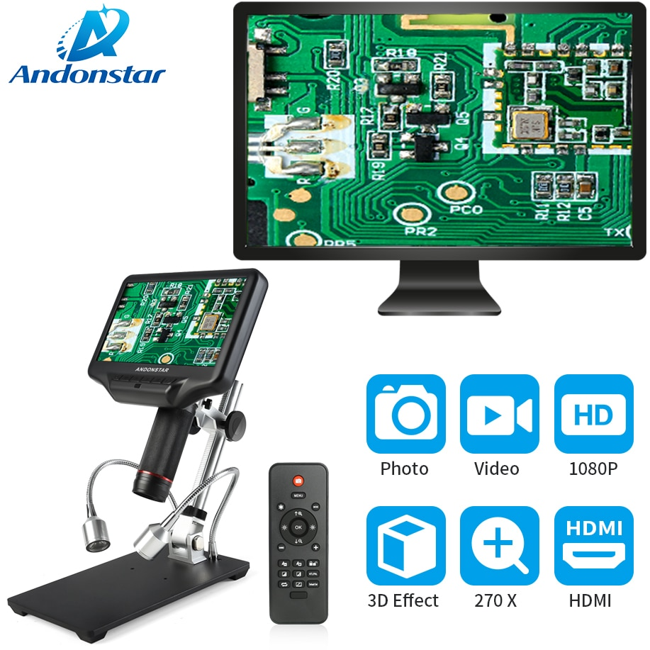 Andonstar 3D digital microscope HDMI long object distance for mobile phone repair soldering tool bga smt w