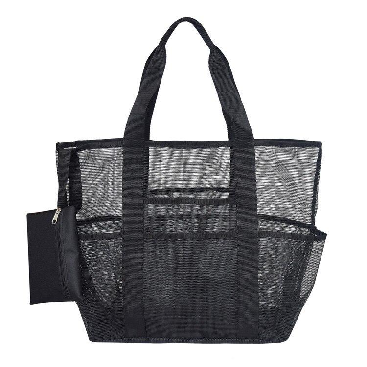 Beach Storage Bag Unisex Hot Spring Wash Bag Mesh Cosmetic Bag Summer Holiday Supplies