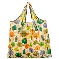 big size tote eco reusable polyester portable shoulder womens handbags folding pouch shopping bag foldable