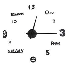 Twórczy zegar zegar ścienny diy europejski zegarek europejski styl ścienny naklejka-zegar na ścianę zegar ścienny zegar akrylowy 3D cyfrowa ściana Clo