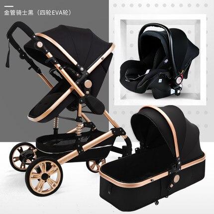 عربة أطفال 3 في 1 لحديثي الولادة ، عربة أطفال ذات مناظر طبيعية عالية ، 0-36 شهرًا ، معفاة من الضرائب في الاتحاد الأوروبي