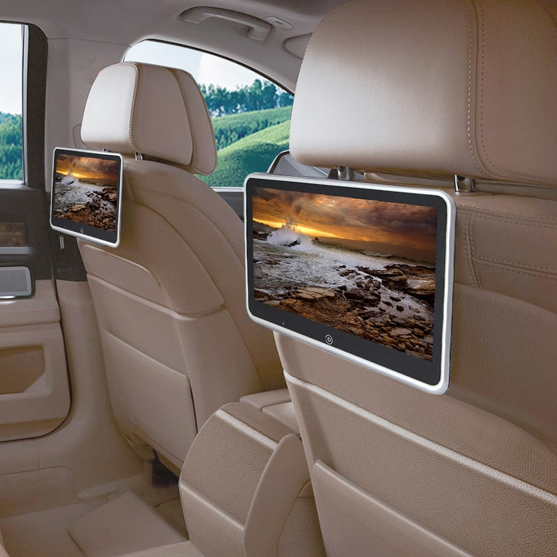 10.1 polegada carro encosto de cabeça monitor auto multimídia mp4 mp5 vídeo player tft hd lcd tela sensível ao toque 800x480 bluetooth/usb/fm