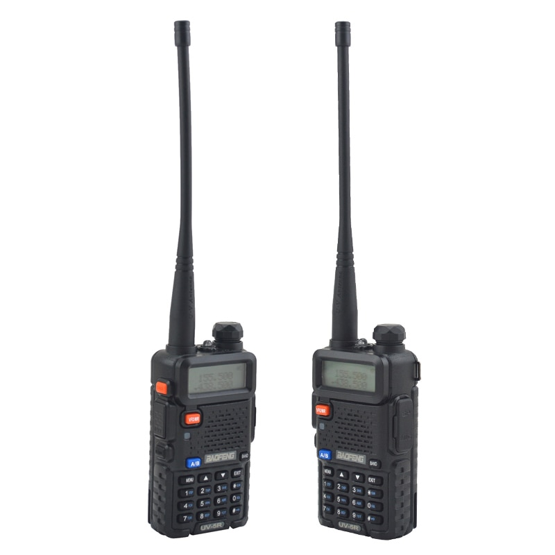 baofeng walkie talkie uv-5r dualband two way radio  VHF/UHF 136-174MHz & 400-520MHz FM Portable Transceiver with earpiece enlarge