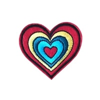 new love heart embroidered patch iron on sewing applique badge clothes patch stickers apparel craft sewing accessories parches