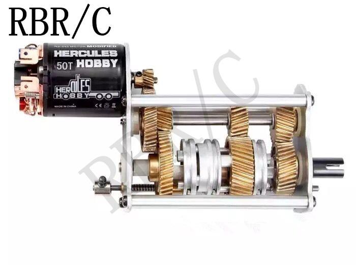 RBR/C 114 Hercules tractor gearbox, metal gear, for TRX4 SCX10 RC car modification DIY upgrade parts
