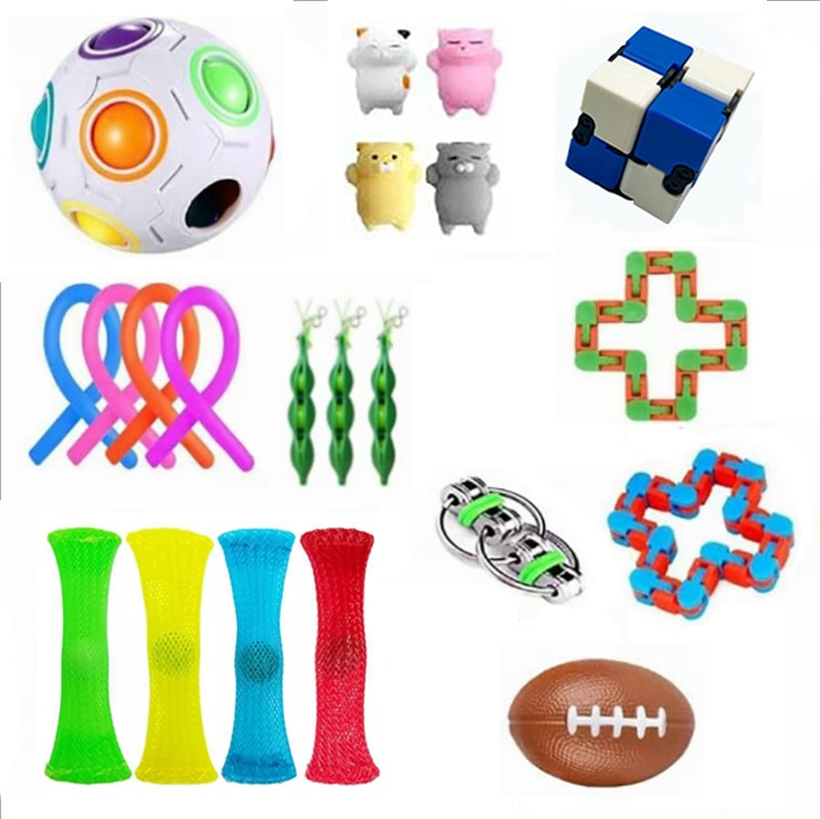 20 in 1 Fidget Toys Anti Stress Relief Set Stretchy Strings Pop It Popit Gift Pack Adult Children Sensory Antistress Relive Toy enlarge