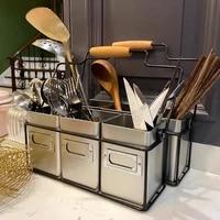 galvanized steel cutlery utensils holder storage basket sundries basket wine carrier kitchen office organizer