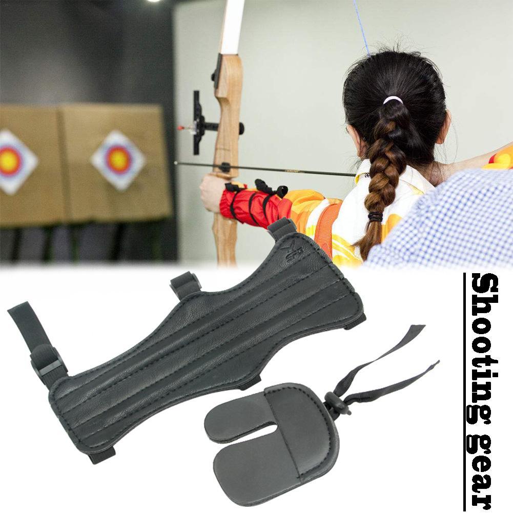 Защита для стрельбы из лука, комплект для защиты пальцев, защитное снаряжение для пальцев, защитное снаряжение для стрельбы на открытом воз... защита на прогулке cherrymom шлем для защиты головы млечный путь