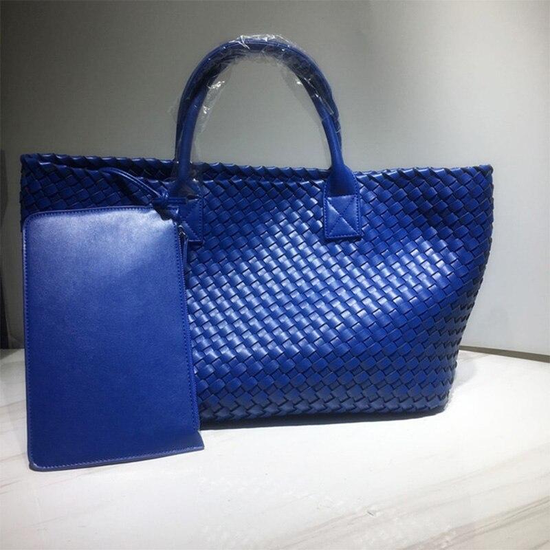 2021 تصميم العلامة التجارية حقائب النساء مع محفظة عالية السعة نسج لون الحلوى عادية جديدة السيدات الكتف تحت الإبط المتشرد حمل الحقائب